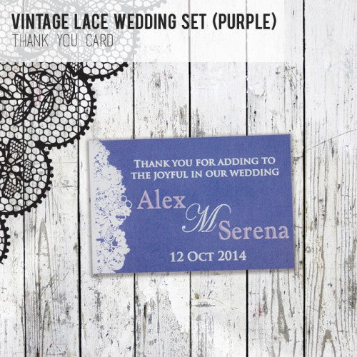 Vintage Lace - Wedding Thank You Card