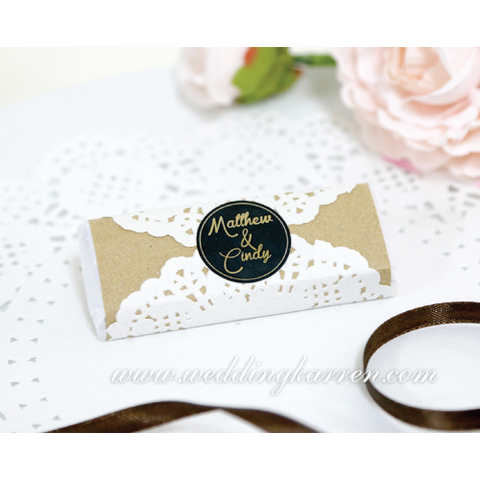 Vintage Style Personalized Kit Kat Wedding Favours