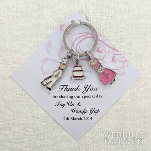 Wedding Couple - Personalized Keychain Door Gifts
