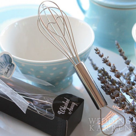 Whisk Away - SILVER Kitchen Whisk Wedding Favours