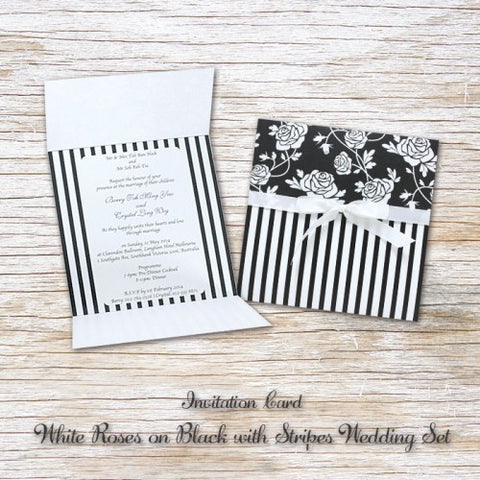 White Rose - Wedding Invitation Card