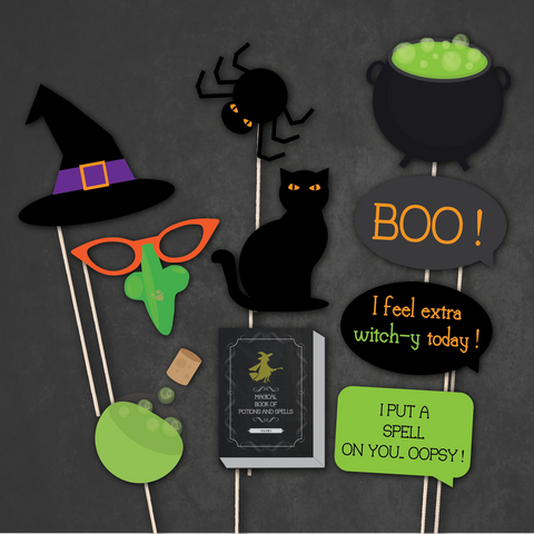 Witches' Brew - Halloween Party Photo Booth Props
