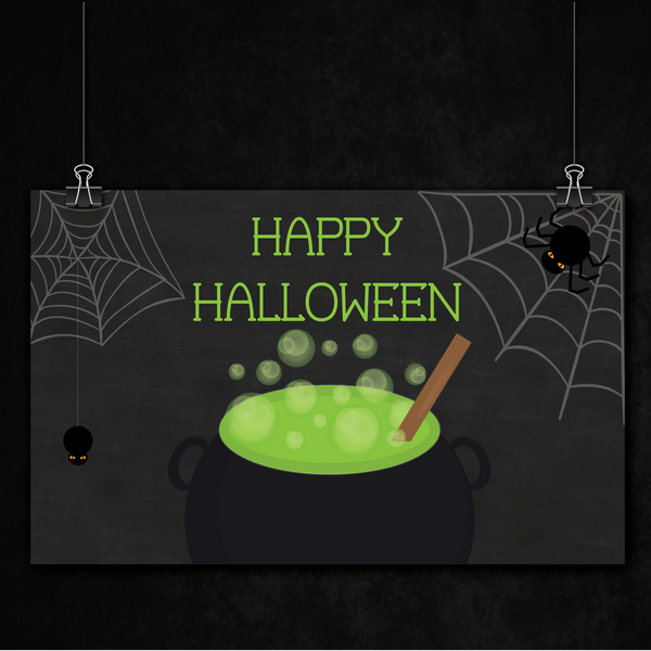Witches' Brew - Halloween Theme Party Banner