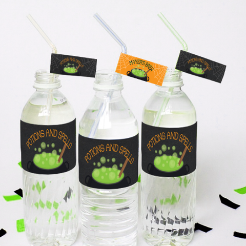 Witches' Brew - Halloween Theme Party Water Bottle