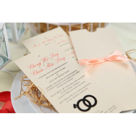 With this Ring - Wedding Invitation Card