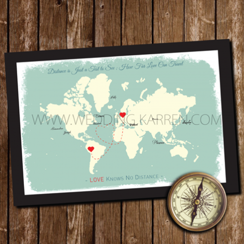 World Map - Wedding Guestbook Alternative