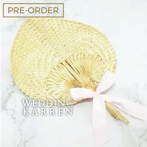Woven Palm Leaf - Hand Fan Favours Door Gifts