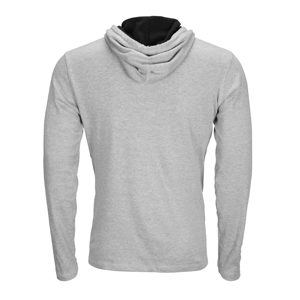 TURN 6 CIRCLE LIGHTWEIGHT HOODY - HEATHER GREY
