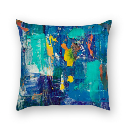 bargains-for-us - Abstract Retro Blue Pillow - Pillow