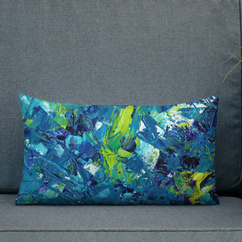 bargains-for-us - Abstract Blue Pillow - Pillow