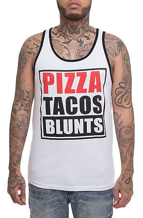 Pizza Taco Blunts Tank