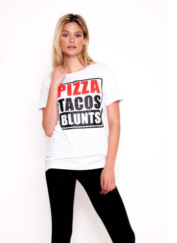 Pizza Taco Blunts Loose Tee