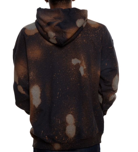 Kiss of Death Blk Acid Wash Hoodie