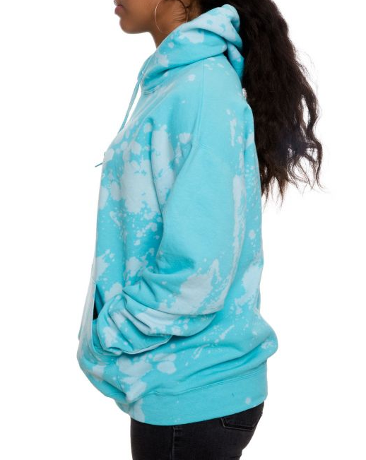 Kiss of Death Acid Wash Oversized Hoodie