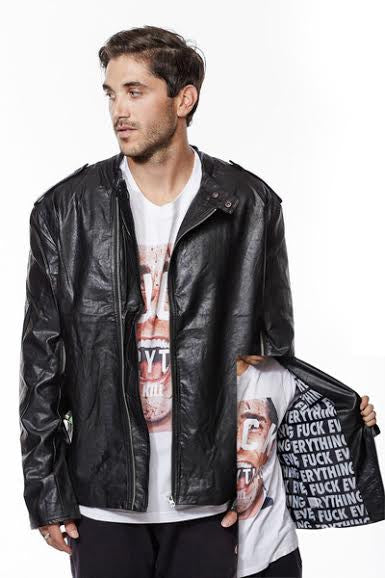 Fuck Everything Leather Jacket