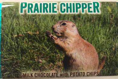 Prairie Chipper chocolate bar with potato chips and toffee