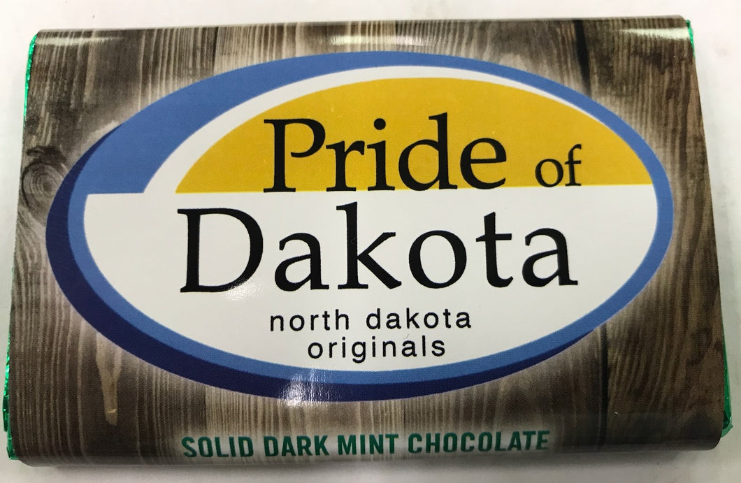 Pride of Dakota Solid Dark Mint Chocolate Bar