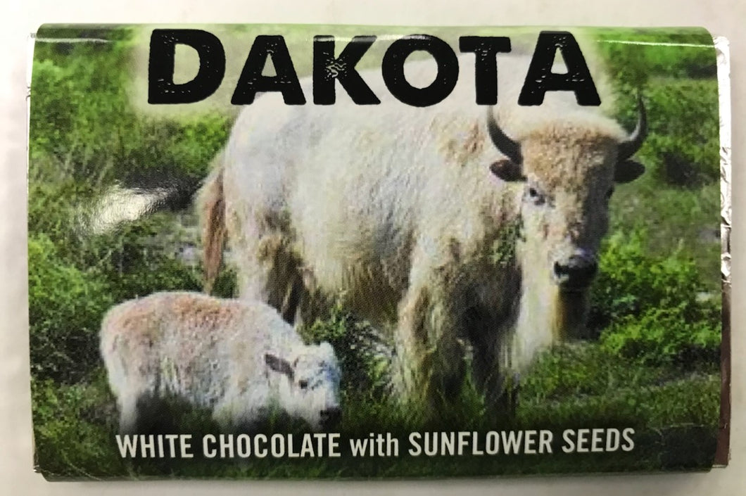 Dakota White Chocolate with Sunflower Seeds Bar