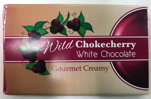 Wild Chokecherry White Chocolate Bar