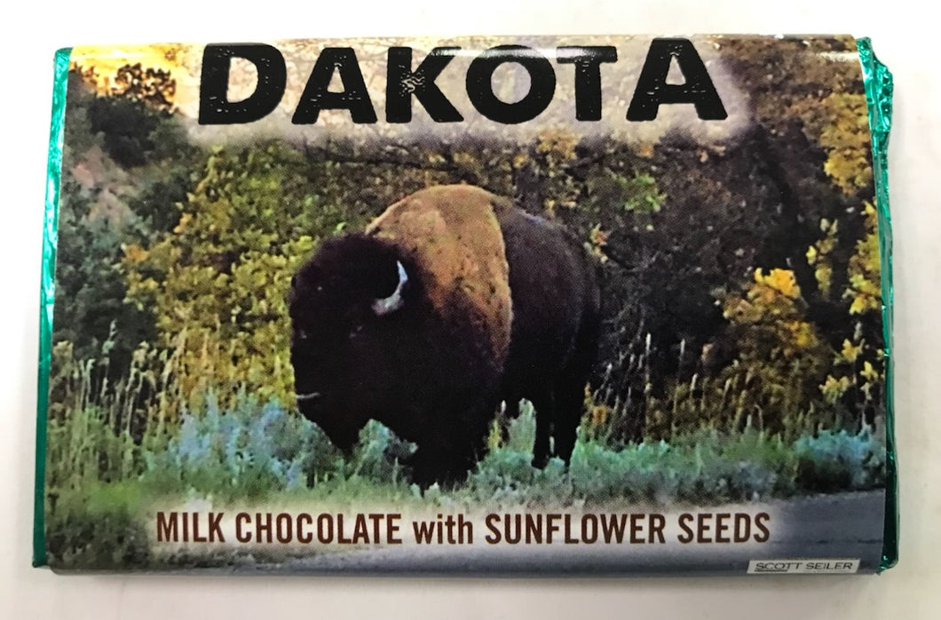 Dakota Milk Chocolate with Sunflower Seeds Bar
