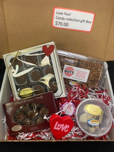 "Valentine's Day Pride of Dakota "" Love You"" Candy Collection gift Box"