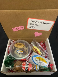 """You're so Sweet"" Pride of Dakota Valentine's Day Gift box"