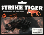 "Strike Tiger 1.5"" curl tail grub - BLACK CAVIAR"