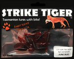 "Strike Tiger 1.5"" curl tail grub - JUNE BUG"