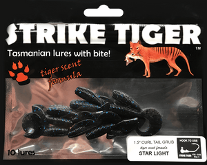 "Strike Tiger 1.5"" curl tail grub STAR LIGHT"