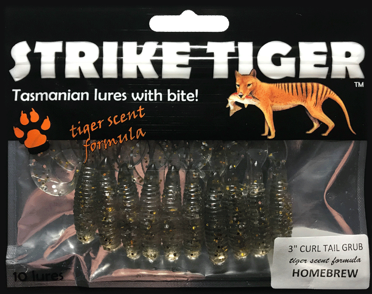 Strike Tiger 3 inch curl tail grub HOMEBREW