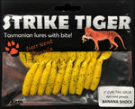 "Strike Tiger 3"" curl tail grub - BANANA SHOCK (10 pack)"