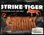 "Strike Tiger 3"" curl tail grub - PUMPKINSEED (10 pack)"