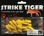 Strike Tiger 1.5 inch curl tail grub BANANA SHOCK
