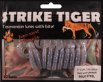Strike Tiger 2 inch curl tail grub BLUE STEEL