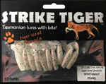 Strike Tiger 2 inch curl tail grub WHITEBAIT PEARL