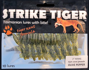 "Strike Tiger 2"" hawg - OLIVE PEPPER (10 pack)"