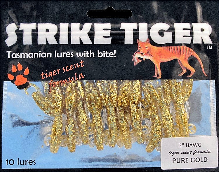 "Strike Tiger 2"" hawg - PURE GOLD (10 pack)"
