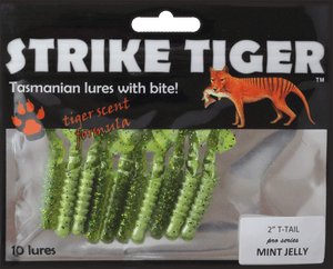 "Strike Tiger 2"" t-tail pro series MINT JELLY"