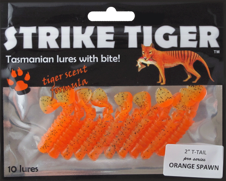"Strike Tiger 2"" t-tail pro series ORANGE SPAWN"