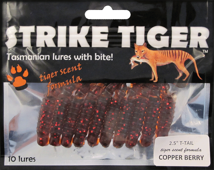 "Strike Tiger 2.5"" t-tail COPPER BERRY"