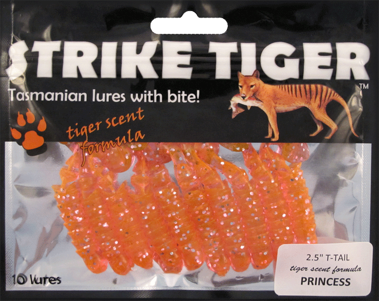 "Strike Tiger 2.5"" t-tail PRINCESS"