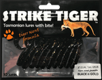 Strike Tiger 3 inch curl tail grub BLACK N GOLD