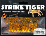 Strike Tiger 3 inch curl tail grub HONEY SEED