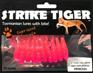 Strike Tiger 3 inch curl tail grub PRINCESS