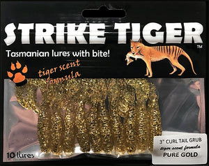 Strike Tiger 3 inch curl tail grub PURE GOLD