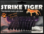 Strike Tiger 3 inch curl tail grub PURPLE STORM