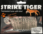 Strike Tiger 3 inch curl tail grub WHITEBAIT PEARL