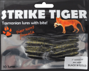 Strike Tiger 3 inch minnow pro series BLACK N GOLD