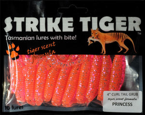 Strike Tiger 4 inch curl tail grub PRINCESS