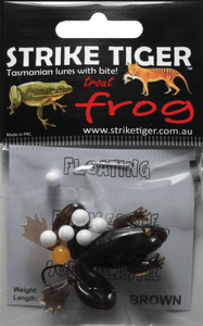 Strike Tiger 1.5 inch trout frog BROWN
